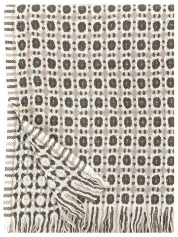 Corona Duo blanket in Beige & Brown