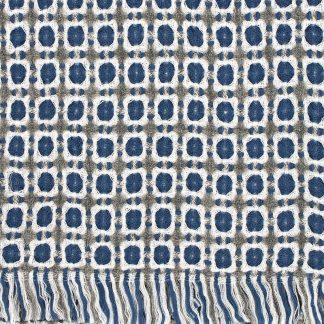 Coruna Duo blanket in Grey & Rainy Blue