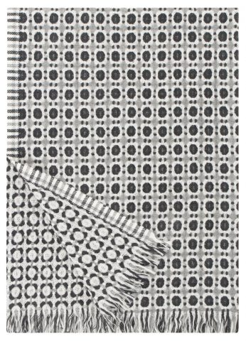 Coruna Duo blanket in Grey & Black