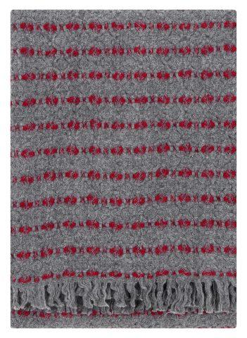 Viima blanket in Red & Grey