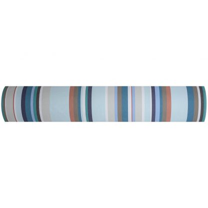 Chalutier fabric in Blanc/Turquoise