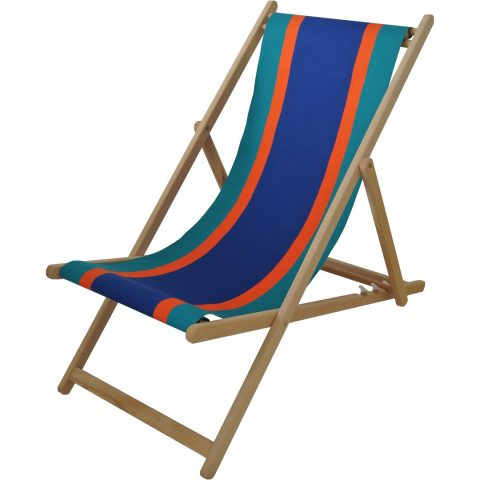 Deck chair with Deauville fabric in Roy/Vert