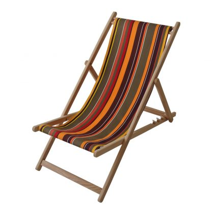 Deck chair in Petit St Laurent de Cerdans fabric