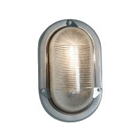 Oval aluminium bulkhead light, unpainted, E27 screwfit bulb (DP7001.AL_.E27)