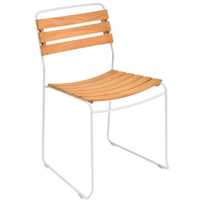 Surprising chair teak in Cotton White