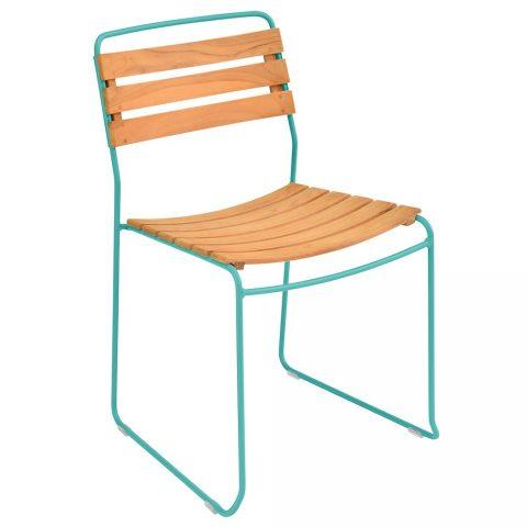 Surprising chair teak in Turquoise