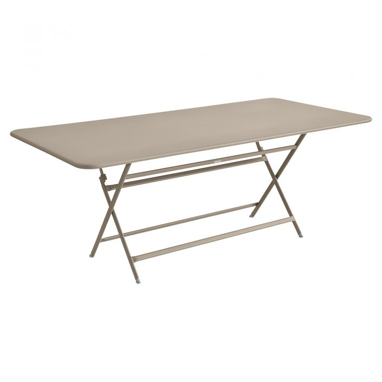 Caractère rectangular table in Nutmeg