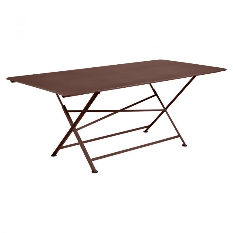 Cargo rectangular table in Russet