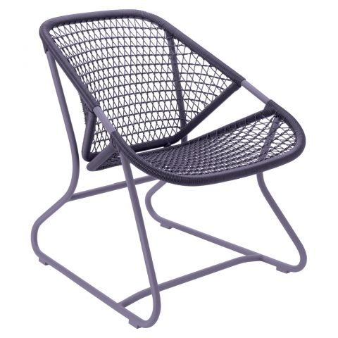 Sixties armchair in Plum