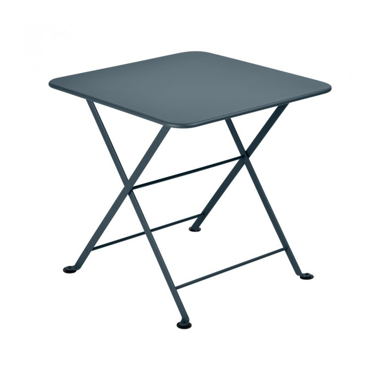 Tom Pouce table 50 x 50 in Storm Grey