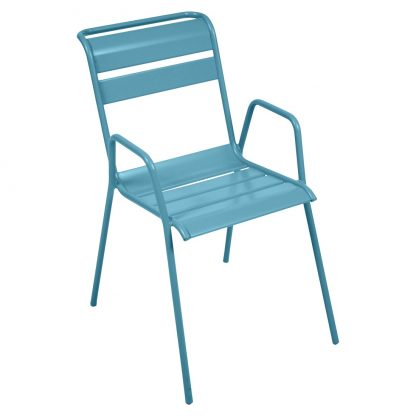 Monceau armchair in Turquoise Blue