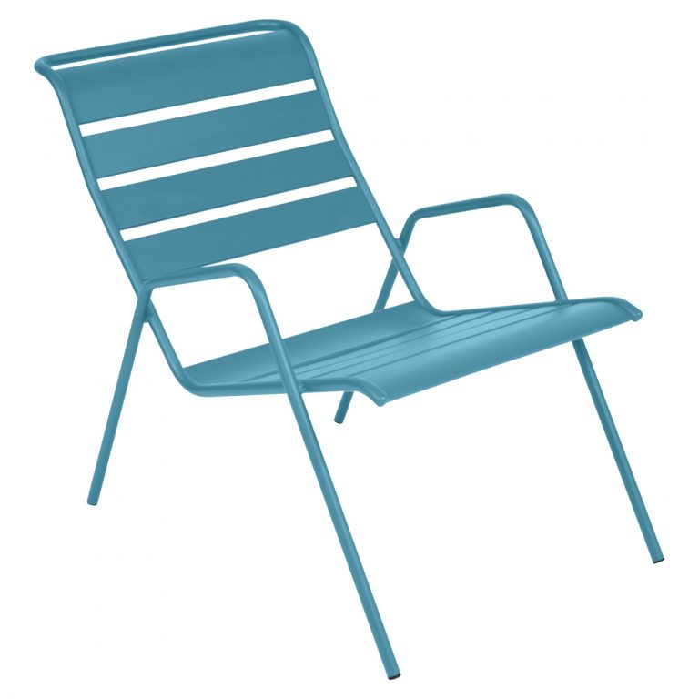 Monceau low armchair in Turquoise