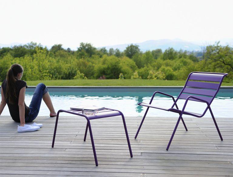 Monceau low armchair, Monceau footstool
