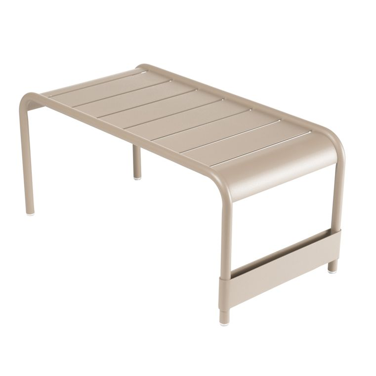 Luxembourg large low table and garden bench in Nutmeg