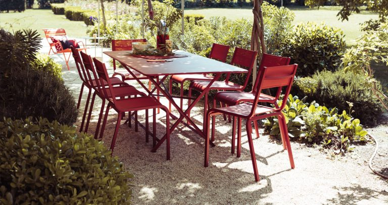 Cargo rectangular table with Oléron chairs