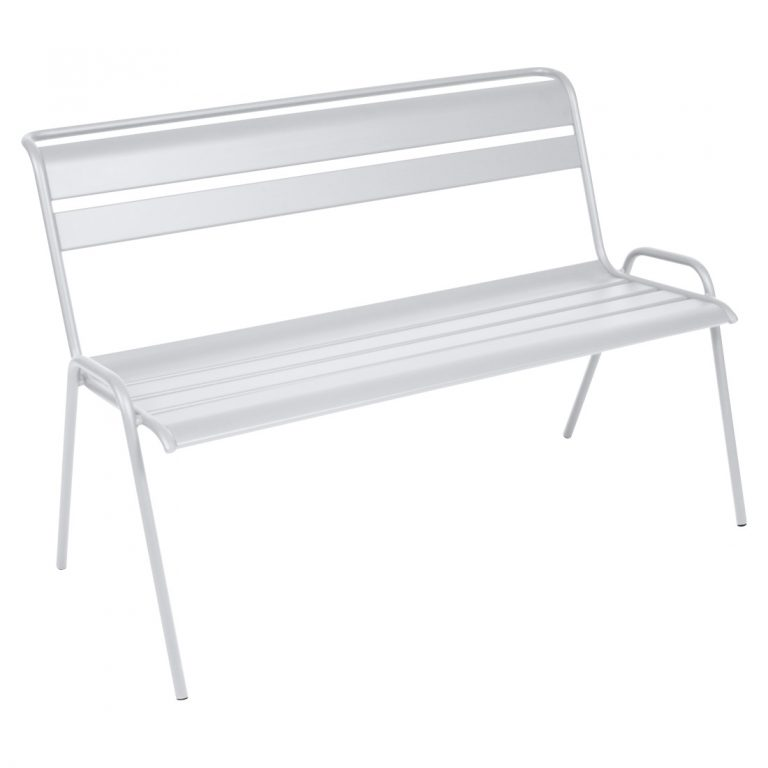 Monceau bench in Cotton White