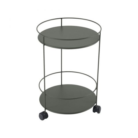 Guinguette wheeled side table in Rosemary