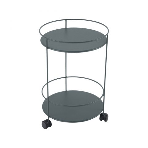 Guinguette wheeled side table in Storm Grey
