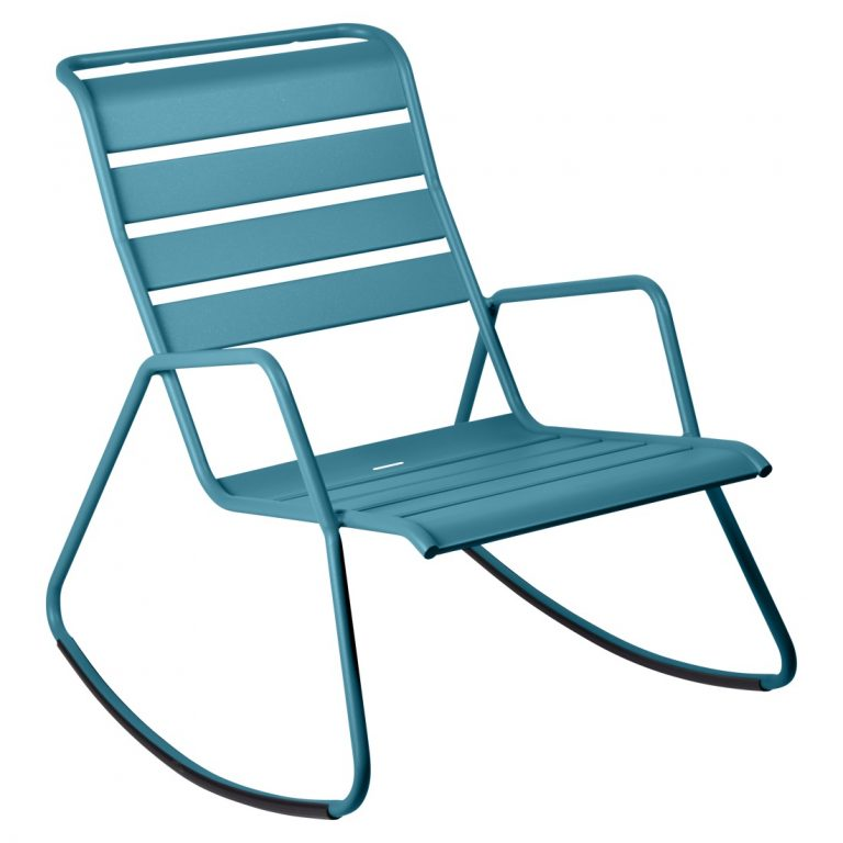 Monceau rocking chair in Turquoise