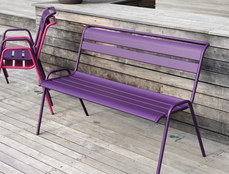 Monceau bench in Aubergine