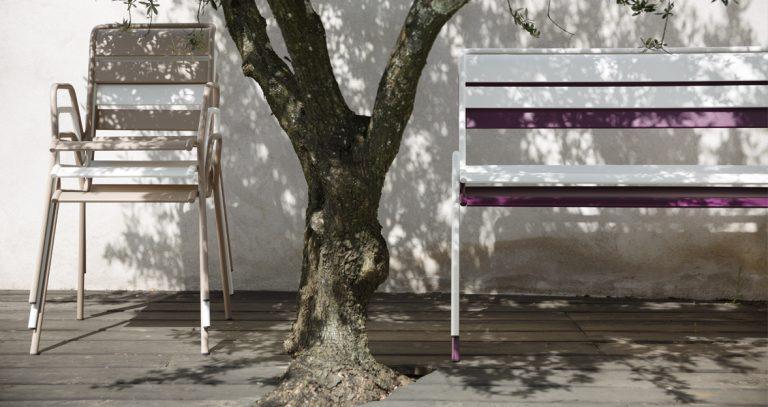 Monceau bench, Monceau armchair