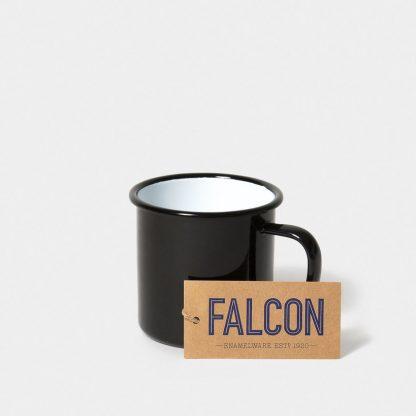 Enamel mug by Falcon Enamelware in Coal Black