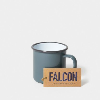 Enamel mug by Falcon Enamelware in Pigeon Grey