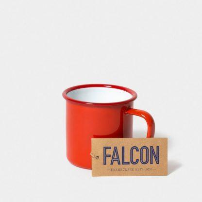 Enamel mug by Falcon Enamelware in Pillarbox Red