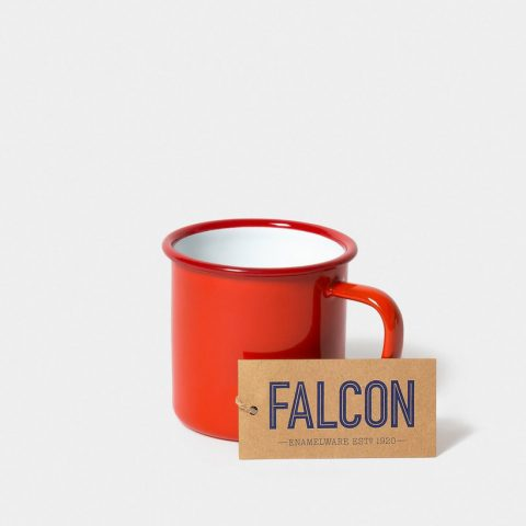 Enamel mug by Falcon Enamelware in Pillarbox Red