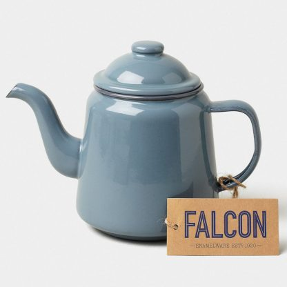 Enamel teapot by Falcon Enamelware in Pigeon Grey