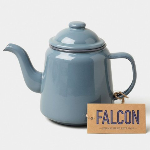 Enamel teapot by Falcon Enamelware in Pigeon Grey