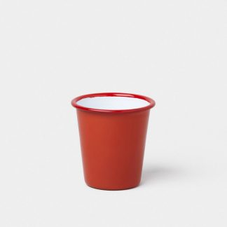 Enamel tumbler by Falcon Enamelware in Pillarbox Red