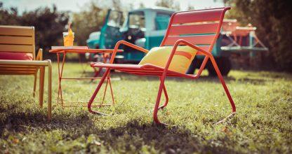 Monceau rocking chair, Monceau, low armchair, Monceau footstool, Tom Pouce square table