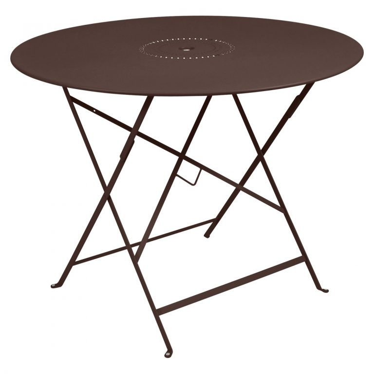 Floréal table 96 cm diameter in Russet