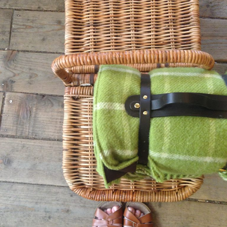 Picnic blanket in Chequered Avocado