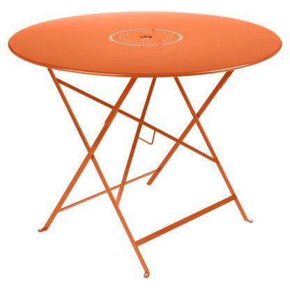 Floréal table 96 cm diameter in Carrot