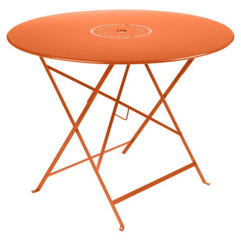 Floréal table 96 cm diameter in Carrot
