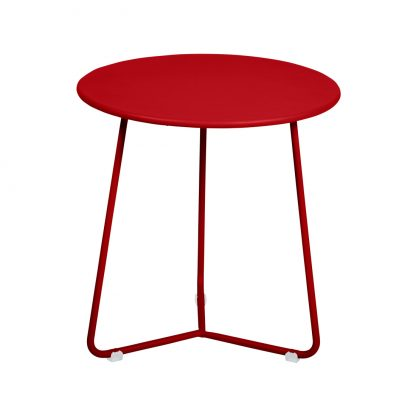 Cocotte footstool occasional table in Poppy