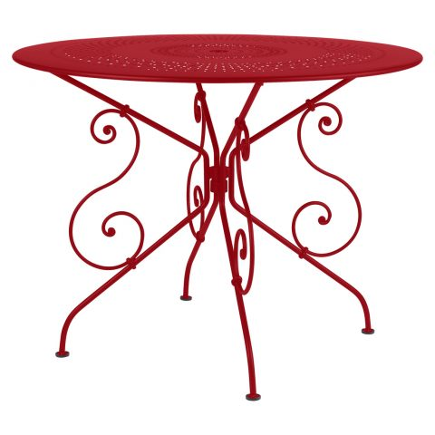 1900 table 96 cm diameter in Poppy