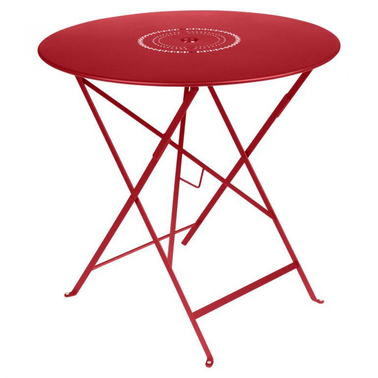 Floréal table 77 cm diameter in Poppy