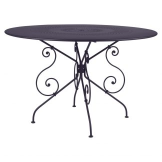 1900 table 117 cm diameter in Plum