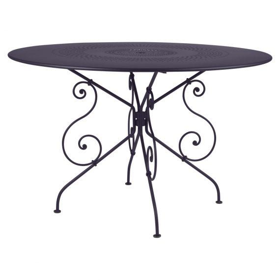 1900 table 117 cm diameter in Plum