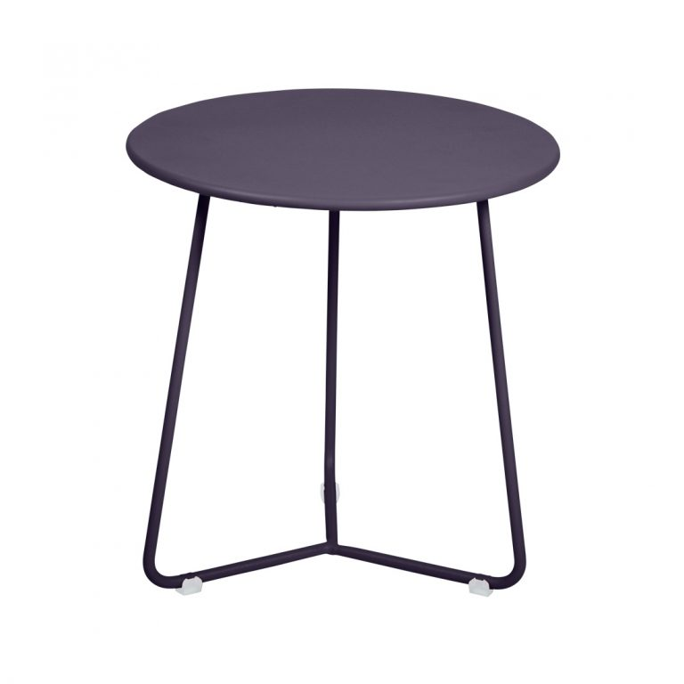 Cocotte footstool occasional table in Plum