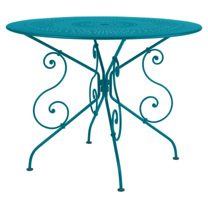 1900 table 96 cm diameter in Turquoise
