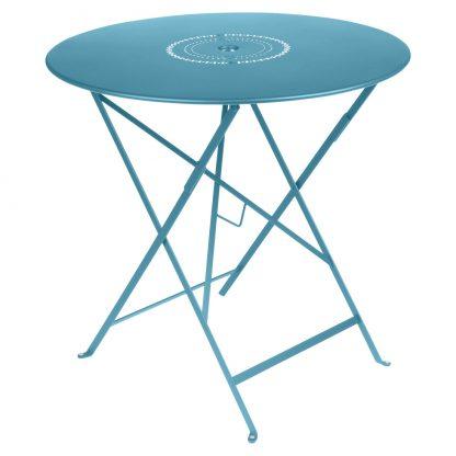 Floréal table 77 cm diameter in Turquoise
