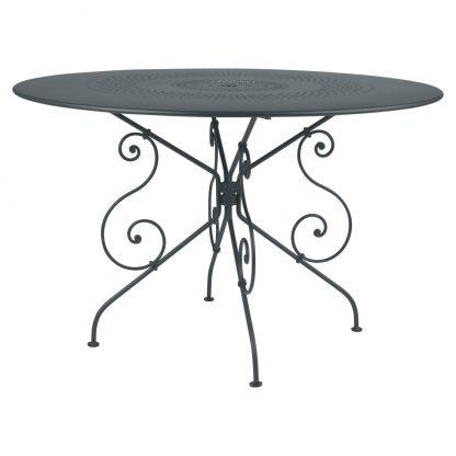 1900 table 117 cm diameter in Storm Grey