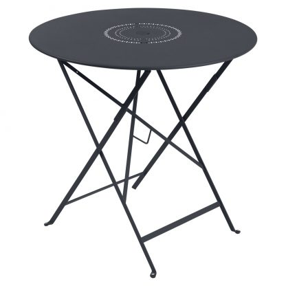 Floréal table 77 cm diameter in Anthracite