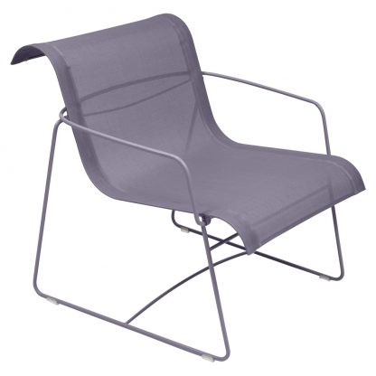Ellipse armchair in Plum