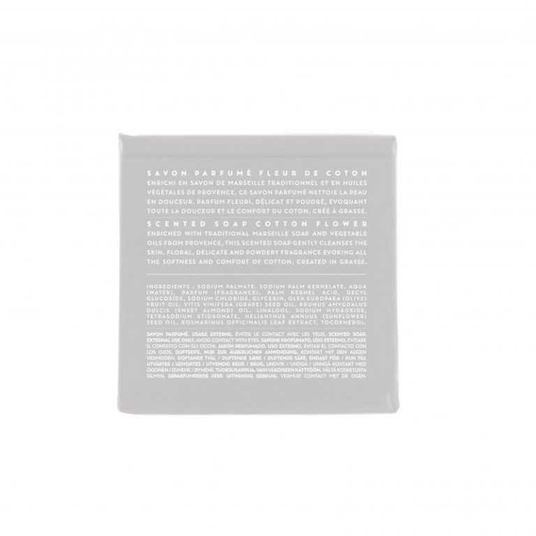 Scented soap 100 gm - Cotton (back)