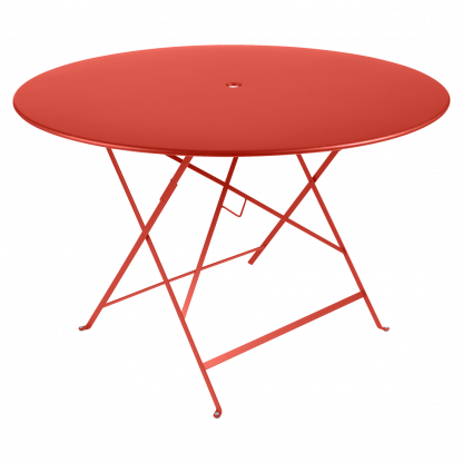 Bistro table, 117 cm diameter in Capucine